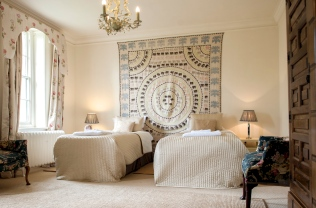 King or twin room at The Old Rectory in Devon