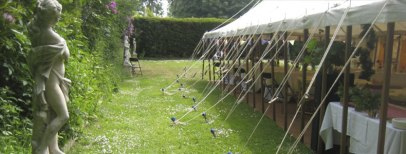 Marquee in the garden for this event