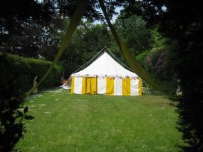 Marquee on the lawn