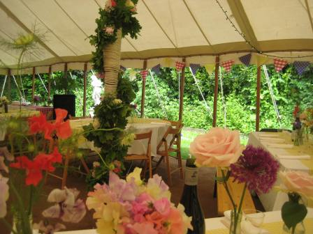 Marquee ready for the party