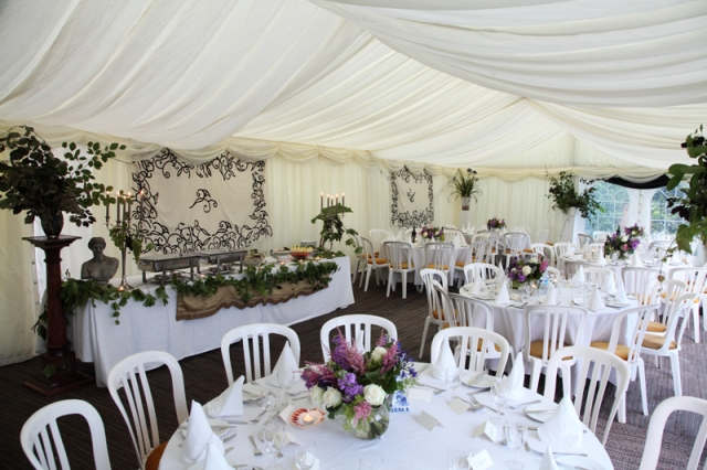 The marquee ready for guests