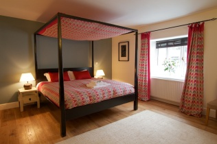 One of the bedrooms at The Red Lion, Chulmleigh