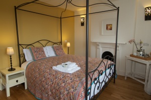 One of the double rooms in the Red Lion in Chulmleigh