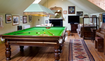 Games room with full sized snooker table