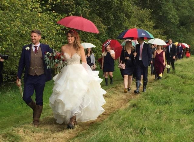 Wedding party walk